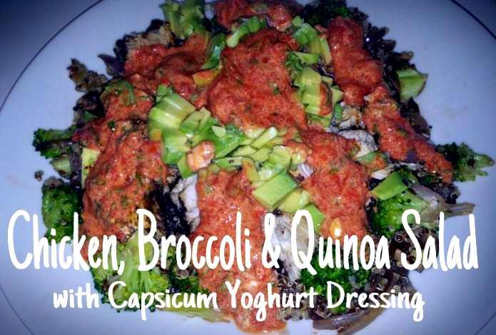 Chicken-Broccoli-and-Quinoa-Salad-with-Capsicum-Yoghurt-dressing