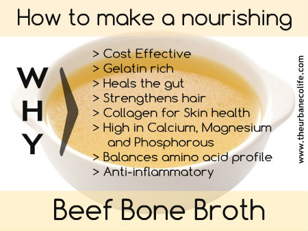 How to make a nourishing beef bone broth and why you should! - The Urban Ecolife