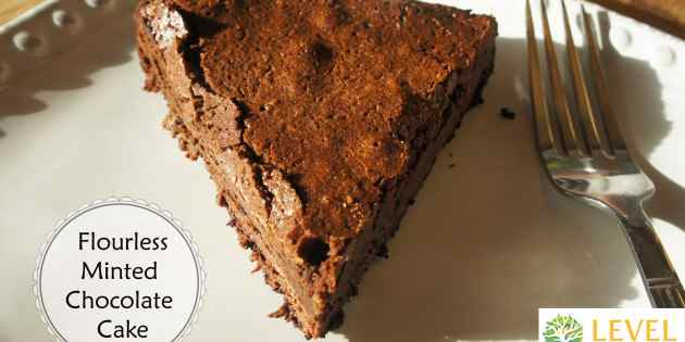 Flourless Minted Chocolate Cake - Level Health & Nutrition