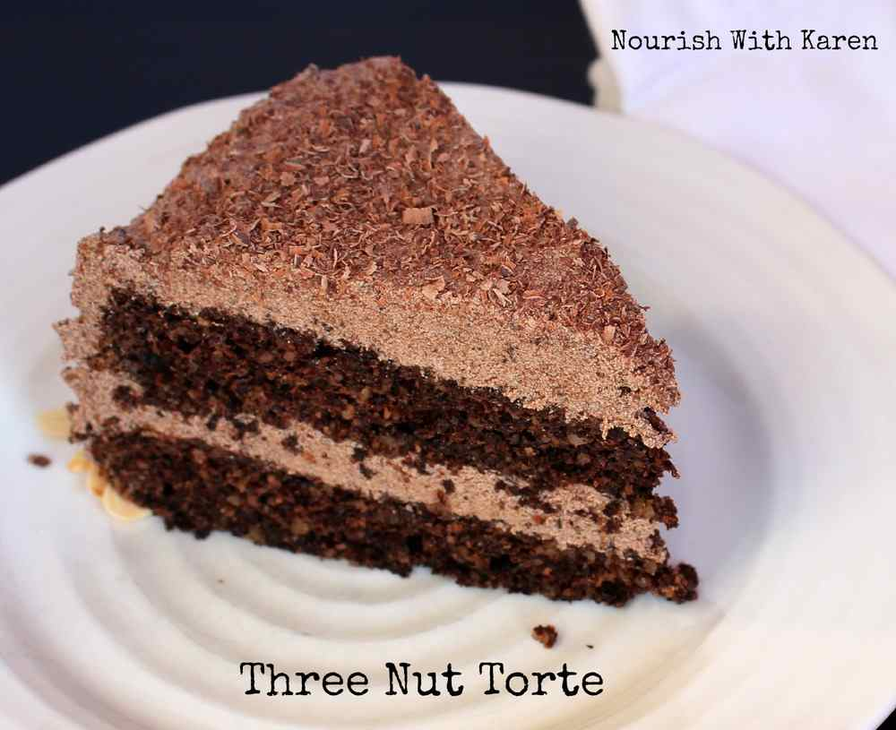 Three Nut Chocolate Torte - Nourish with Karen